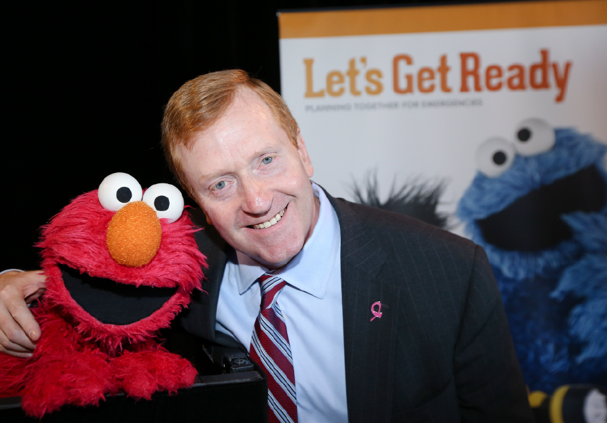 Elmo and a PSEG Executive