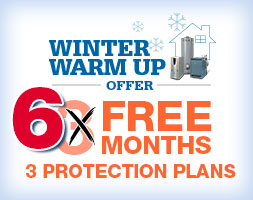 Enroll in WorryFree® Protection Plans for your gas furnace/boiler, standard water heater and exposed indoor gas piping and get the first three months of coverage FREE on all three plans.